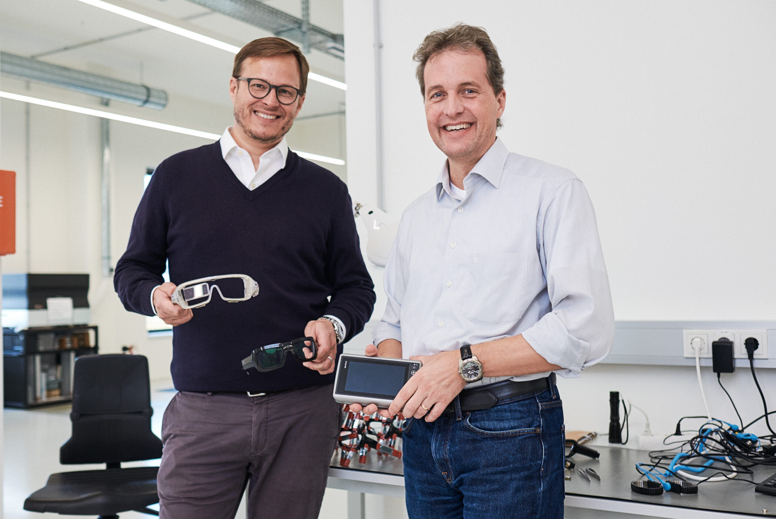 Nils Berger with CTO Frank Linsenmaier