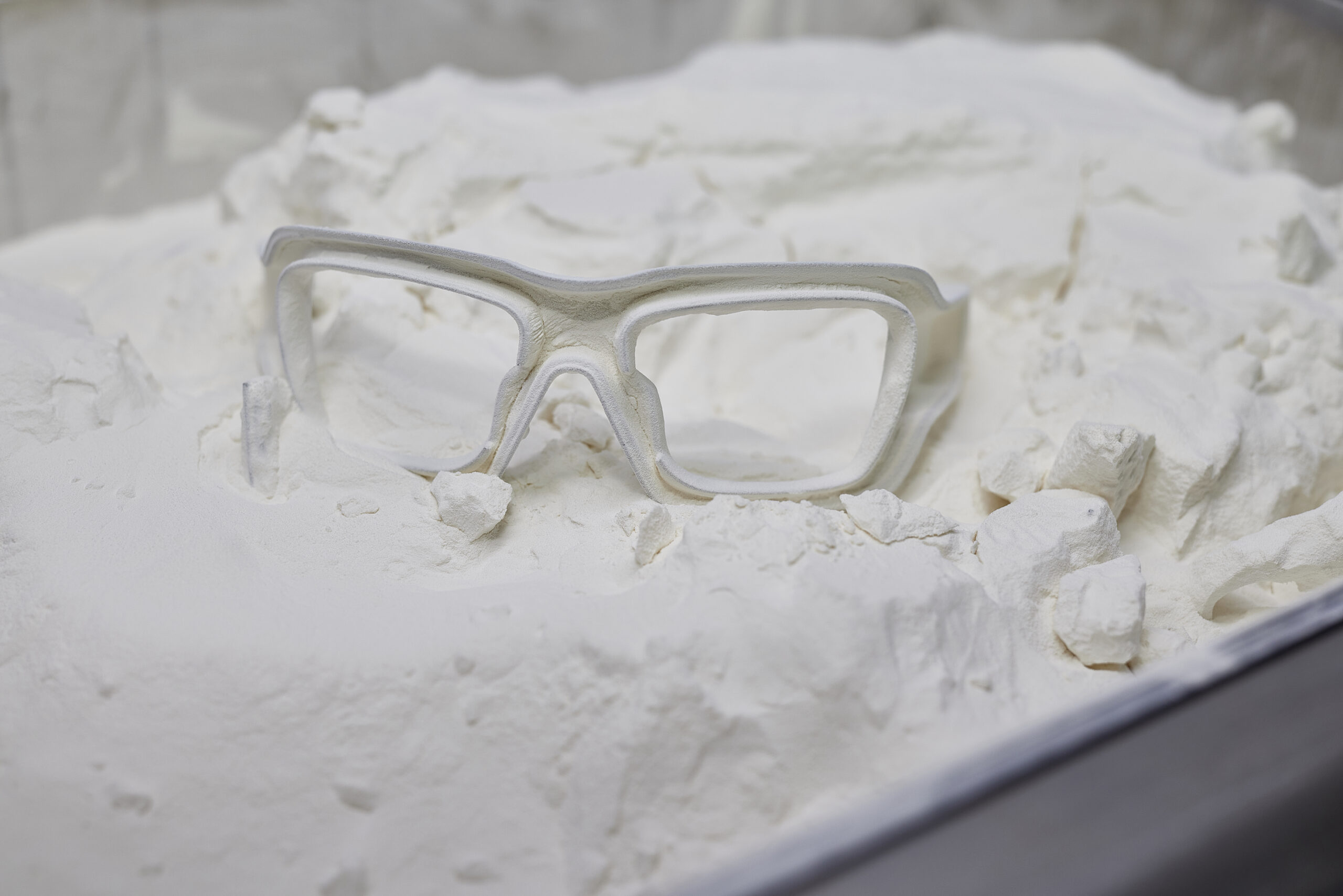 Glasses blank after 3D printing